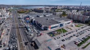 Панорама перекрестка пр. Карла Маркса - ул. Завенягина. Вид с воздуха